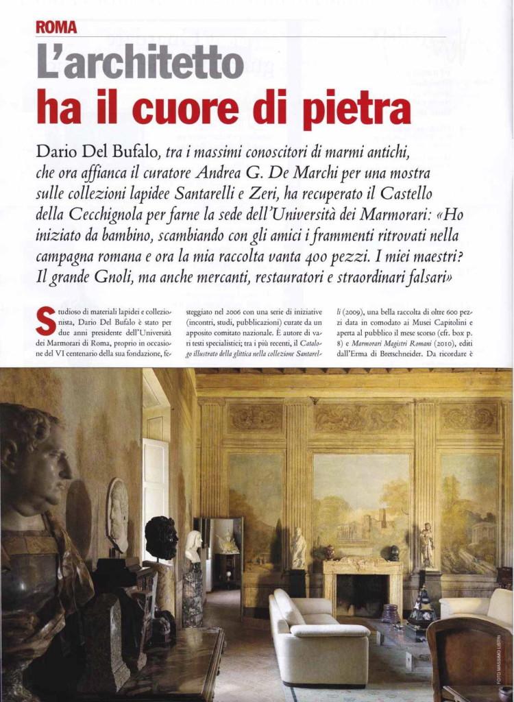 L'architetto ha il cuore di pietra Dario Del Bufalo. Vernissage