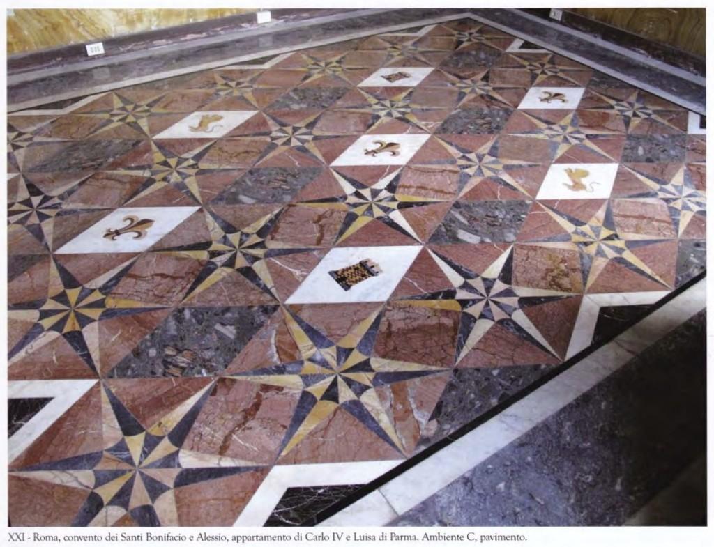 Marmi-pavimenti-appartamento-Carlo-IV-e-Luisa-di-Parma 1
