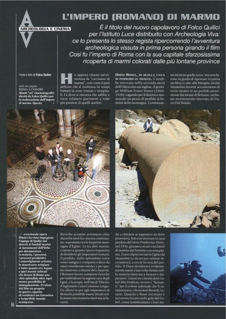 ARCHEOLOGIA VIVA n. 110 2005.1