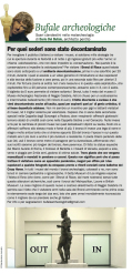"""BUFALE ARCHEOLOGICHE"" Column in Il Giornale dell'Arte – October 2014"