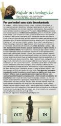 """""""BUFALE ARCHEOLOGICHE…"""" Rubrica sul Giornale dell'Arte – Ottobre 2014"""