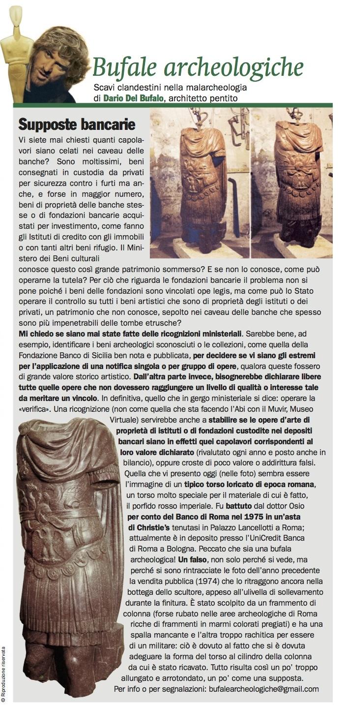 Bufale_Archeologiche_Giornale_dell_Arte_11_2014_Dario_Del_Bufalo