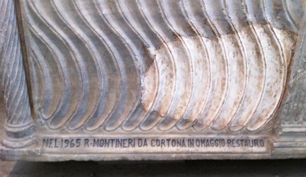 BUFALE_ARCHEOLOGICHE_Febbraio_2015_Firmare il restauro_Museo Archeologico Albano