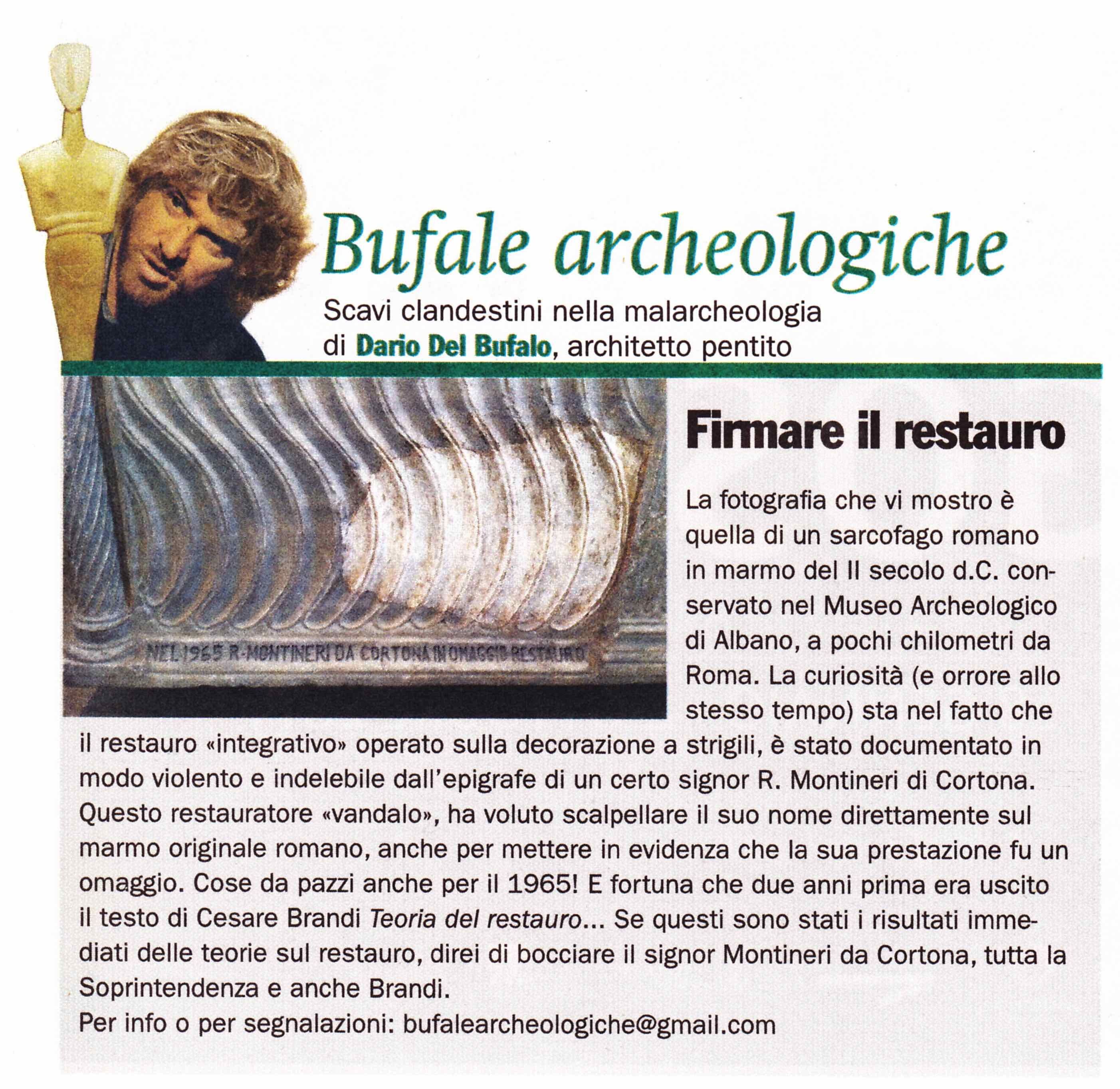 Bufale archeologiche_Febbraio 2015 Dario Del Bufalo