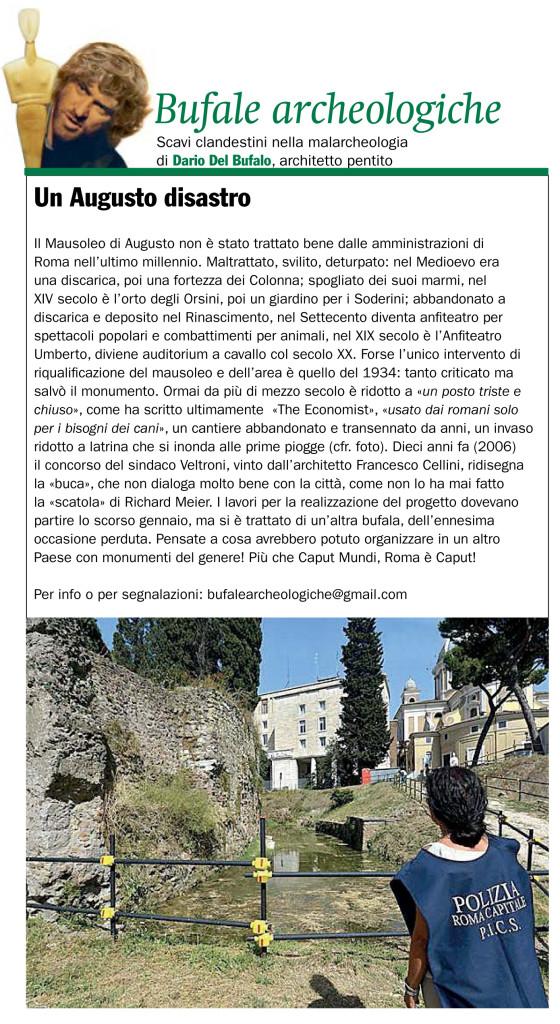 Bufale archeologiche Luglio 2016 Un Augusto disastro Dario Del Bufalo