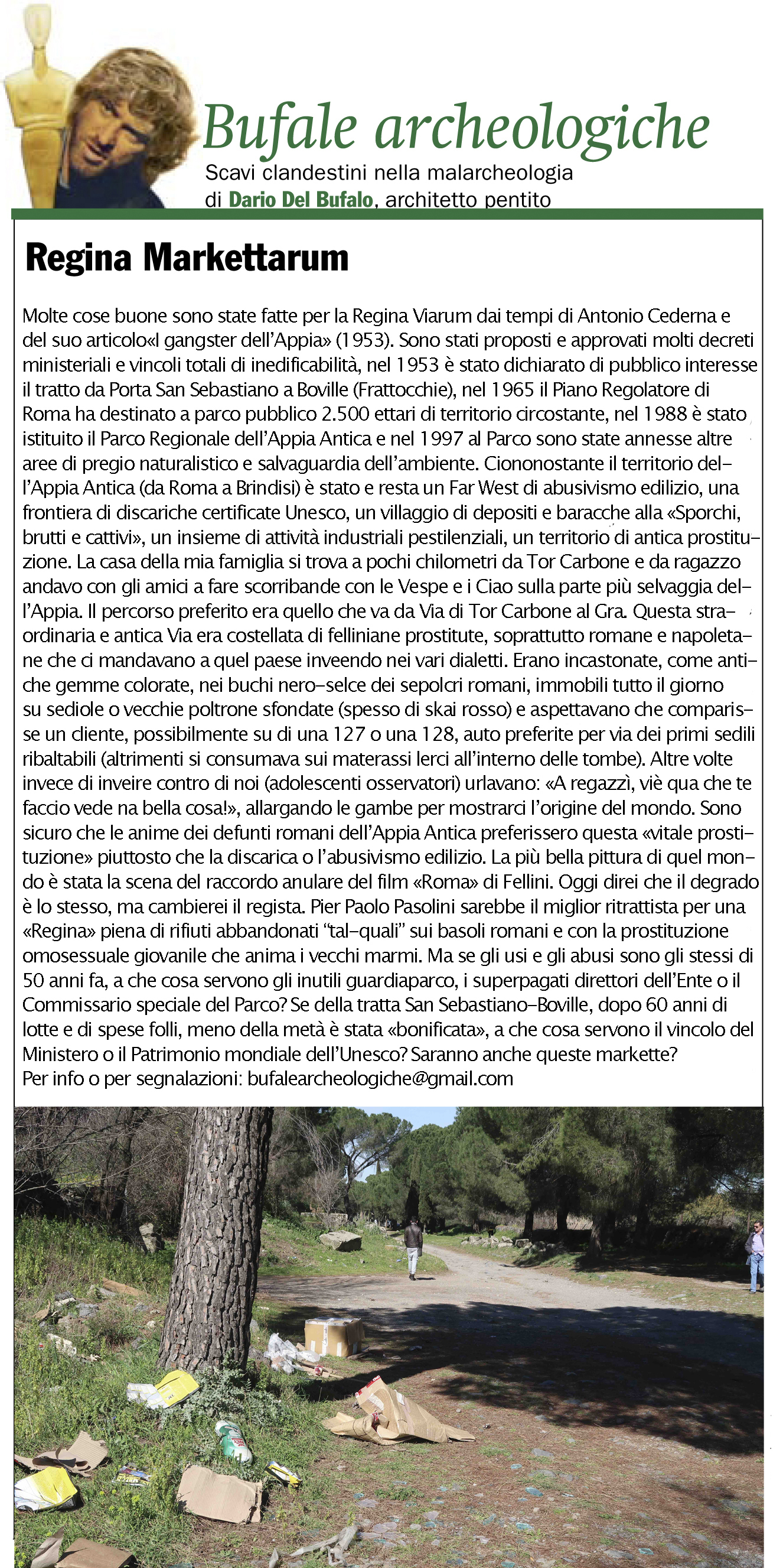 Bufale Archeologiche Aprile 2017 Giornale dell'Arte Dario Del Bufalo