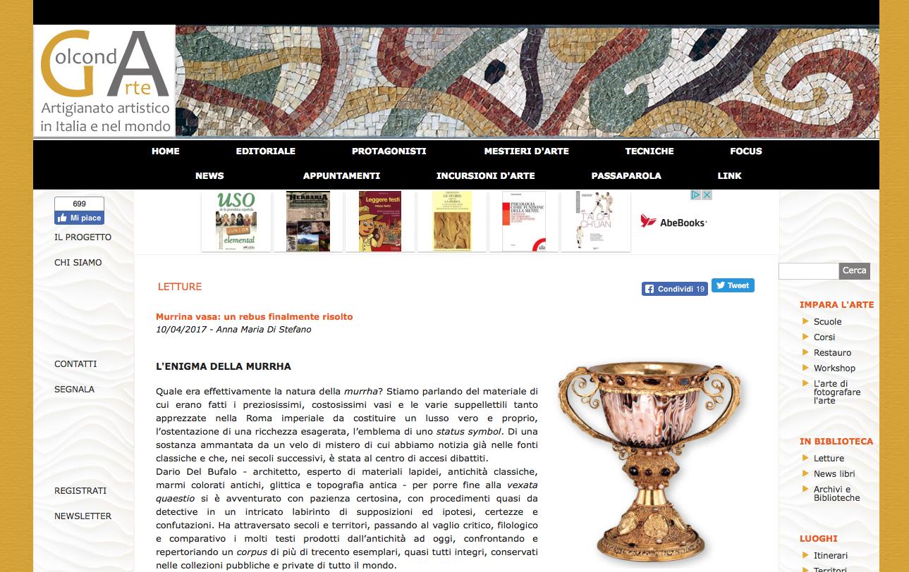 Murrina Vasa un rebus finalmente risolto di A. M. Di Stefano