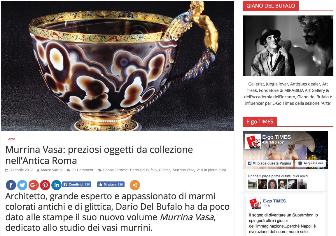 Murrina vasa preziosi oggetti da collezioni Marco Sartini