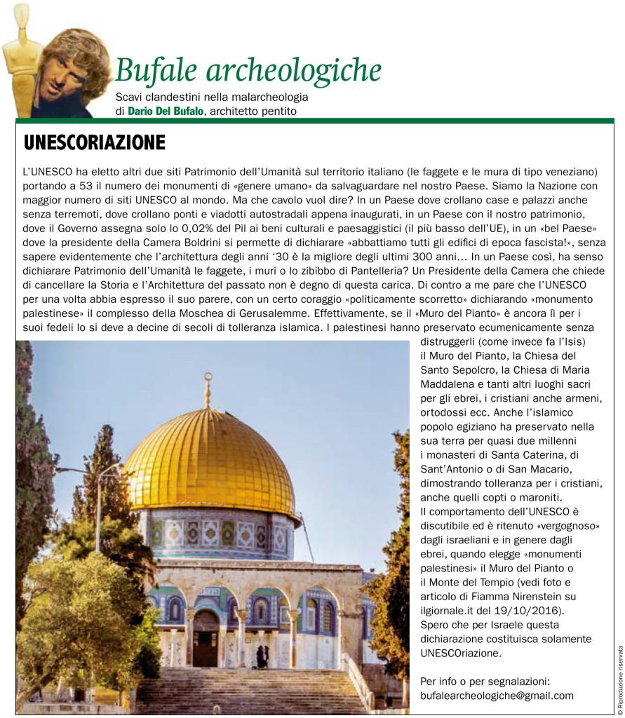 Bufale Archeologiche Giornale dell'Arte Settembre 2017 Dario Del Bufalo