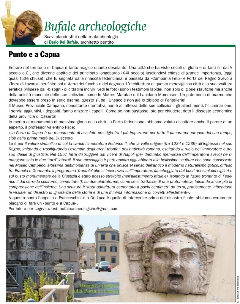 Bufale archeologiche Ottobre 2017 Dario Del Bufalo Giornale dell'arte