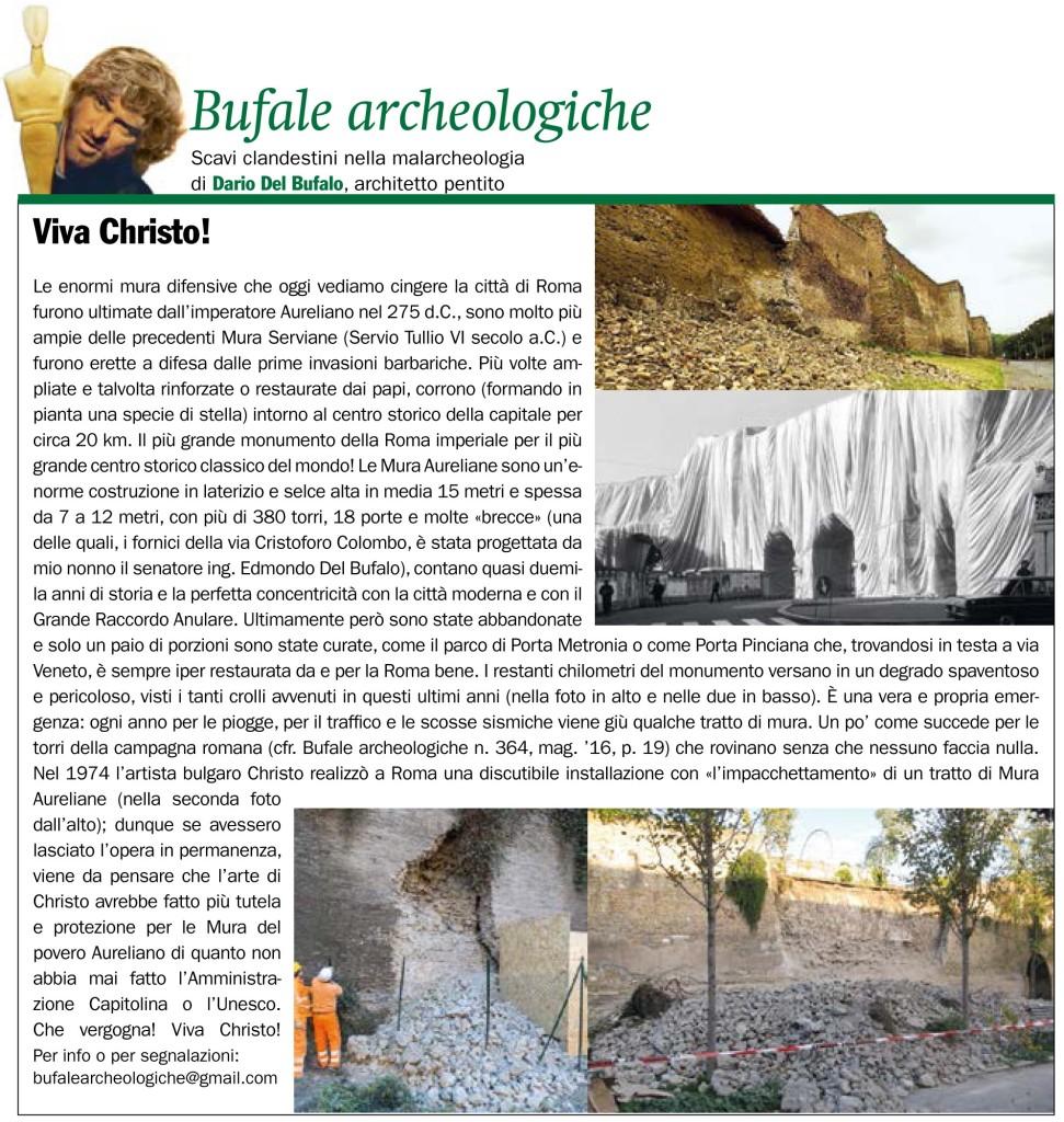 Viva Christo Giornale dell'arte dario Del Bufalo