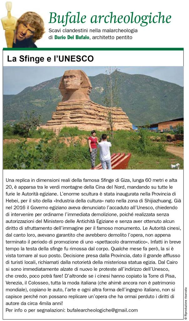 La Sfinge e l'UNESCO Dario Del Bufalo Giornale dell'Arte Aprile 2019
