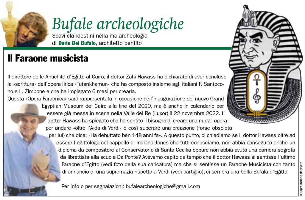 Il faraone musicista Bufale Archeologiche Novembre 2019 Dario Del Bufalo