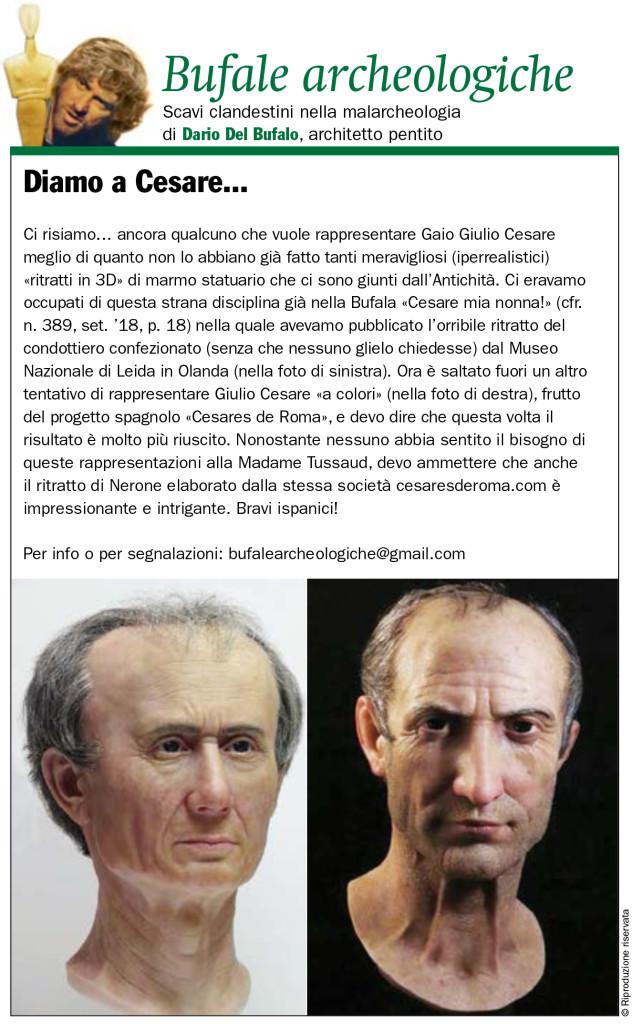 Diamo a Cesare... Dario Del Bufalo Bufale Archeologiche Giornale dell'Arte Febbraio 2020