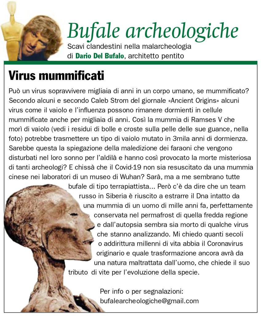 Virus Mummificati Dario Del Bufalo IL GIORNALE DELL'ARTE n. 408 mag.-giu. '20