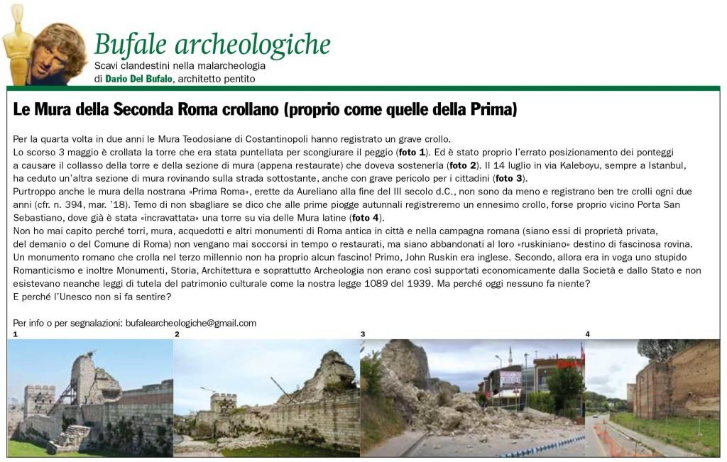 Le_Mura_della Seconda_Roma_crollano_Giornale_dell_Arte_settembre_2020_Dario_Del_Bufalo