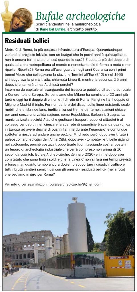 Dario Del Bufalo Bufale archeologiche Residuati bellici Il Giornaledell'Arte ottobre 2020