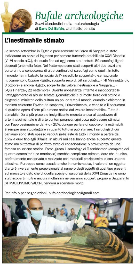 L'inestimabile stimato Dario Del Bufalo Il Giornale dell'Arte Dicembre 2020